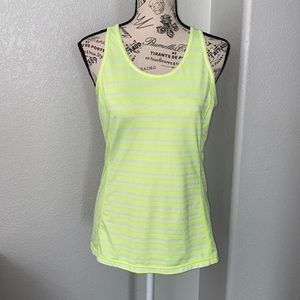 Lucy Neon Yellow Racerback Athletic Tank Top